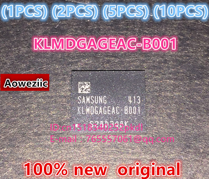 (1PCS) (2PCS) (5PCS) (10PCS) 100% new original KLMDGAGEAC-B001 BGA 128GB EMMC tablet or mobile storage chip KLMDGAGEAC B001 1pcs 2pcs 5pcs 10pcs 100% new original klmdgageac b001 bga 128gb emmc tablet or mobile storage chip klmdgageac b001