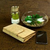 Natural cork women wallet card holde trifold clutch vegan phone wallet cork leather handmade original from PORTUGAL bag 250