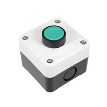 купить UXCELL Push Button Switch Station Momentary NO Green 400V 10(6) A To Control The Electromagnetic Starter Contactor Accessories дешево