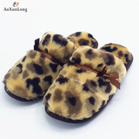 2017 New Winter Fashion Women Slippers High Quality Plush Warm Home Slippers Girl Clamshell Indoor Flip