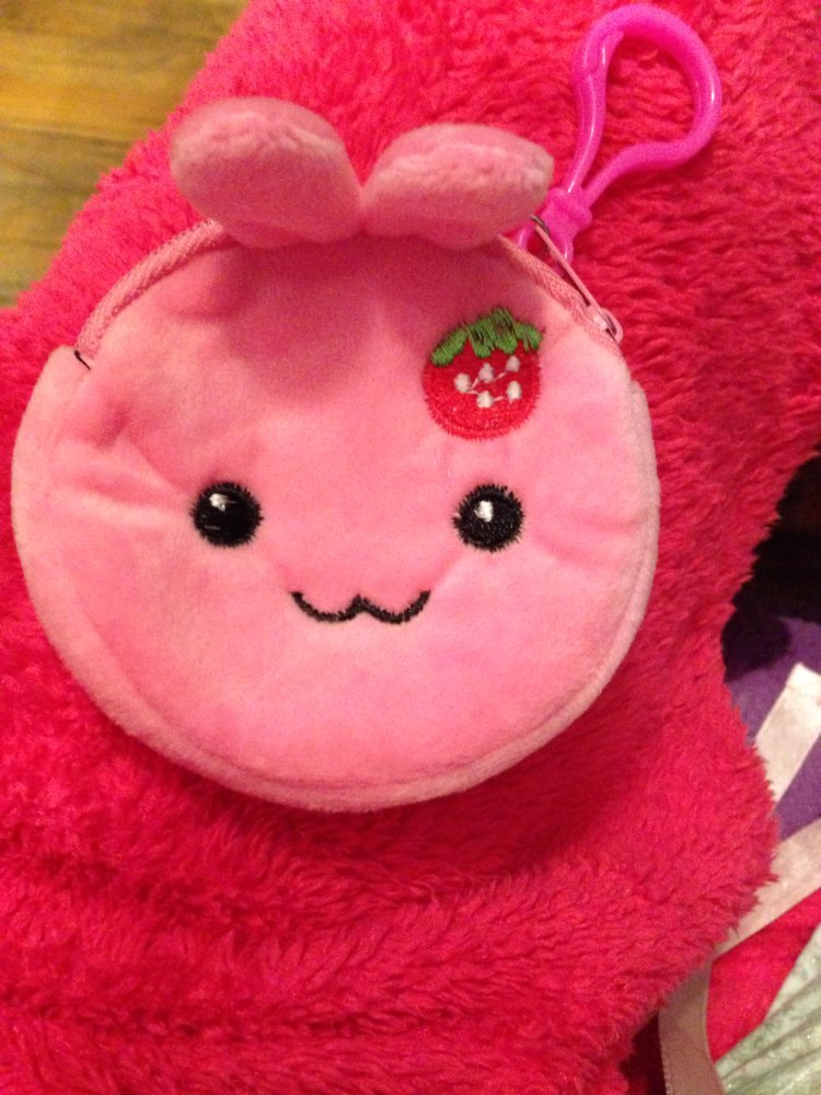 Popular NEW Gift Coin BAG , 8cm approx. UP 20Models – gift Mini key hook coin bag Pouch , Cute wallet plush coin purse photo review