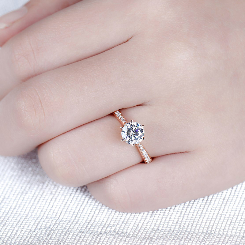 moissanite rose gold emgagement ring (5)