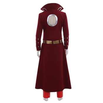 Anime The Seven Deadly Sins Ban Cosplay Costume Fox\'s Sin of Greed Ban Costume Adult Men Halloween Outfit Trench Coat Pants Suit