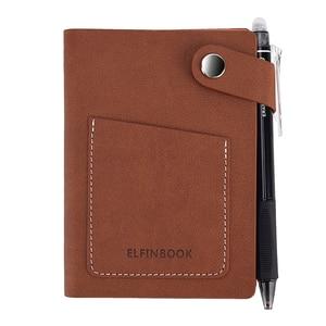Image 1 - Elfinbook Mini Smart Wiederverwendbare Notebook Tagebuch Notizblock Vintage Leder Elinbook Papier Hinweis Buch Schreibwaren Geschenk Reisenden Journal