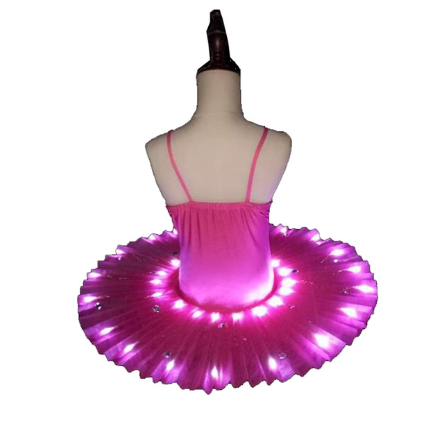 Image 4 - Women's Professional Ballet Skirt Kids' Swan Ballet LED Illuminate Tutu Dress 4colors 90 170cm Girl Hot drilling tutu skirt-in Ballet from Novelty & Special Use