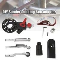1Pcs DIY Sander Sanding Belt Adapter For 100mm 4 Inch Electric Angle Grinder For Woodworking Metalworking