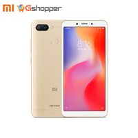 Global Version Xiaomi Redmi 6 3GB+32GB/ 4GB+64G Mobile Phone MTK Helio P22 Octa Core 5.45 18:9 Full Screen 12MP+5MP Dual Camera