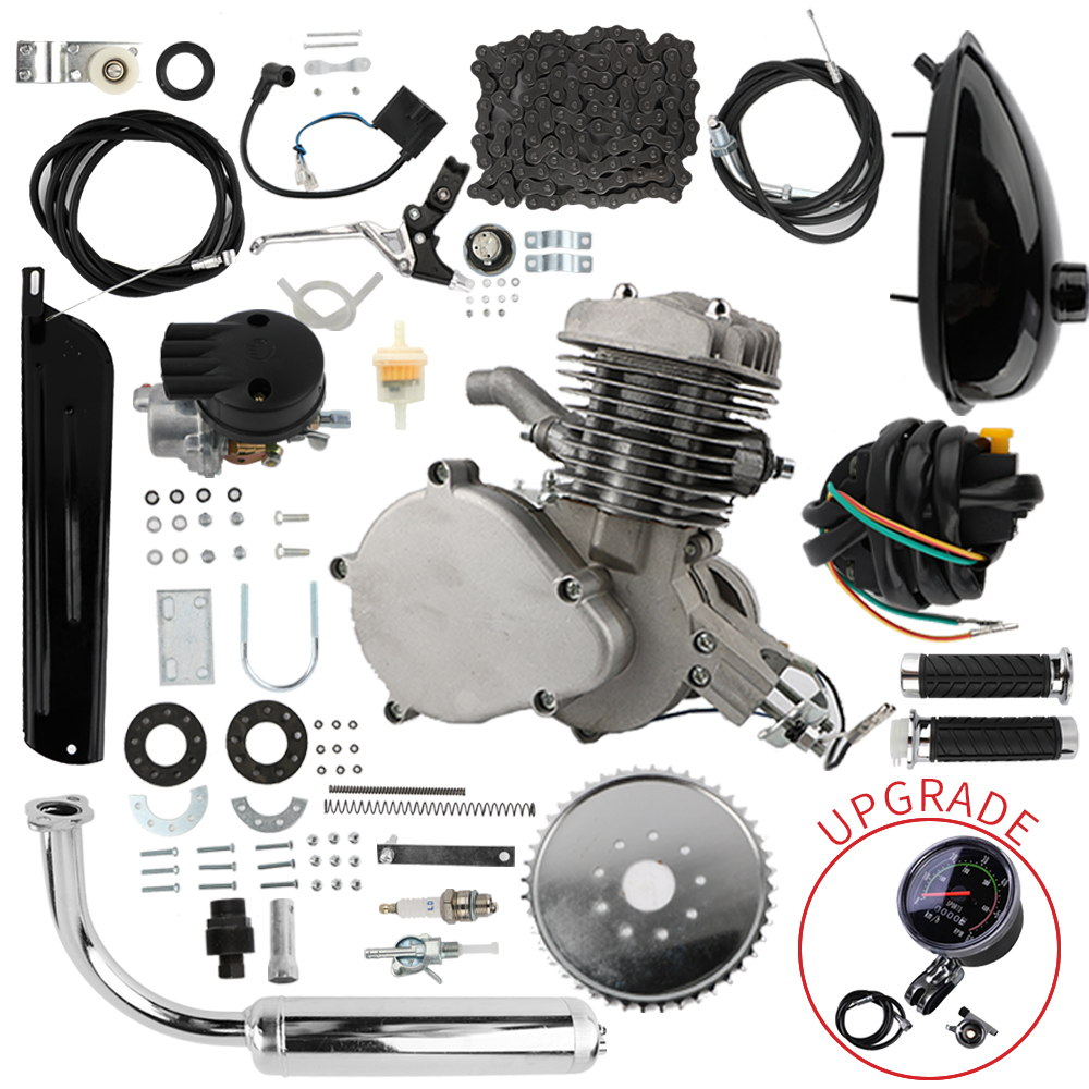 80cc 2 Stroke Pedal Cycle Petrol Gas Motor Conversion Kit Air Cooling Motorized Engine Kit for Motorized Bike Motorcycle Parts