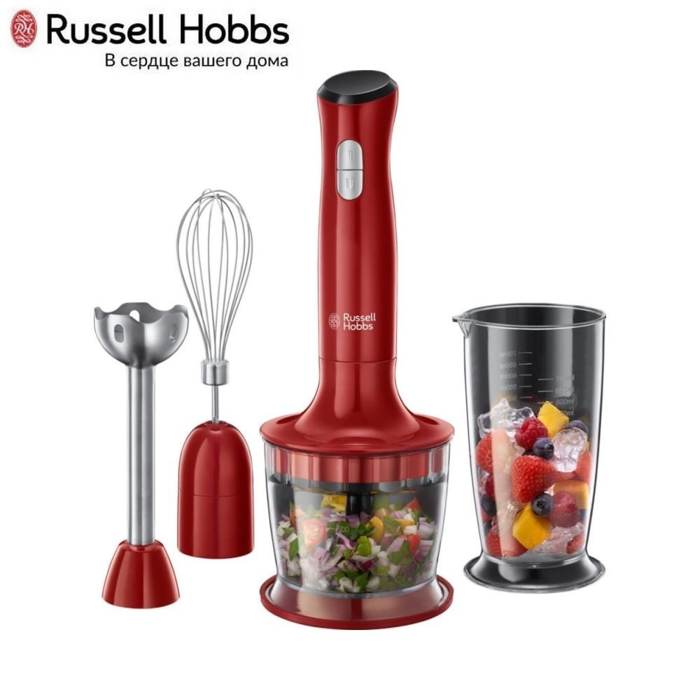 Blender submersible Russell Hobbs 24700-56 Blender smoothies kitchen Juicer Portable blender kitchen Cocktail shaker Chopper Electric Mini blender blender русификатор