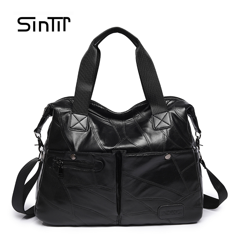 SINTIR Autumn Women Genuine Leather Handbags Famous Brand Girls Tote Shoulder Bags Designer Female Crossbody Bag Bolsos Sac Main famous brand handbags women shoulder bag designer plush ball chain leather bag small crossbody bags for women sac a main