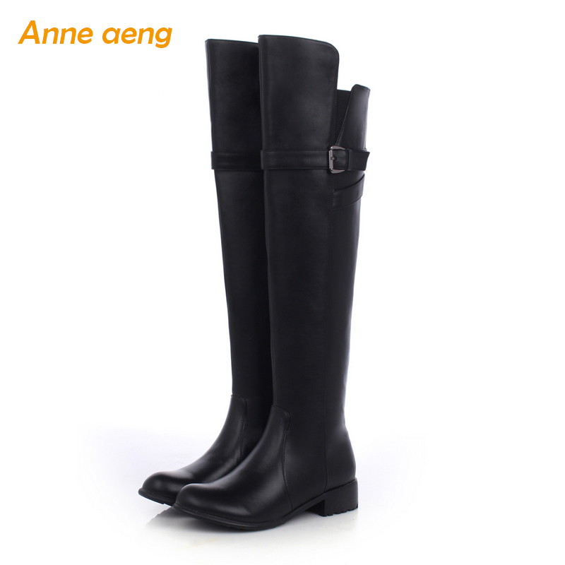 Anne Aeng Knee-High womens shoes Warm winter boots Hot Free Shipping2018Genuine Leather Square Heel Zip Round Toe Buckle BeltAnne Aeng Knee-High womens shoes Warm winter boots Hot Free Shipping2018Genuine Leather Square Heel Zip Round Toe Buckle Belt