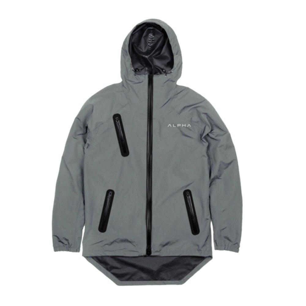 2018 hommes course vestes Fitness Sports manteau Football Football formation Gym corset à capuche respirant séchage rapide fermeture à glissière