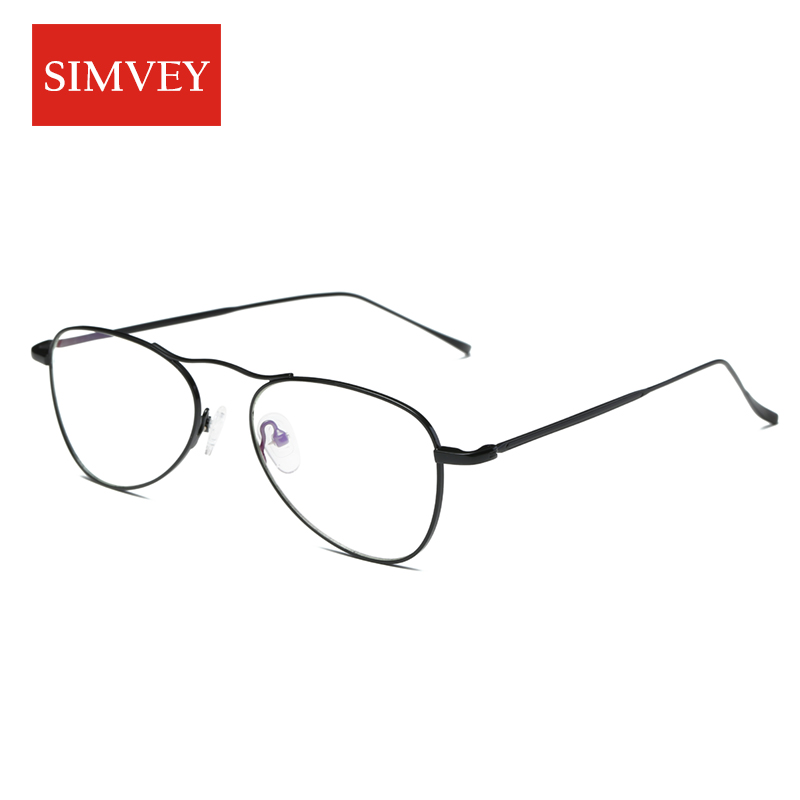 Simvey 2017 Fashion Anti Blue Light Glasses Women Man Gaming Glasses Vintage Computer Glasses Ellipse Metal Frame High Quality