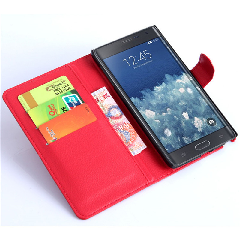 For Samsung Galaxy Note Edge N9150 <font><b>Case</b></font> Flip PU Leather Card Slots Wallet Stand <font><b>Case</b></font> For Samsung Note Edge <font><b>N915</b></font> Phone Bag <font><b>Case</b></font> image