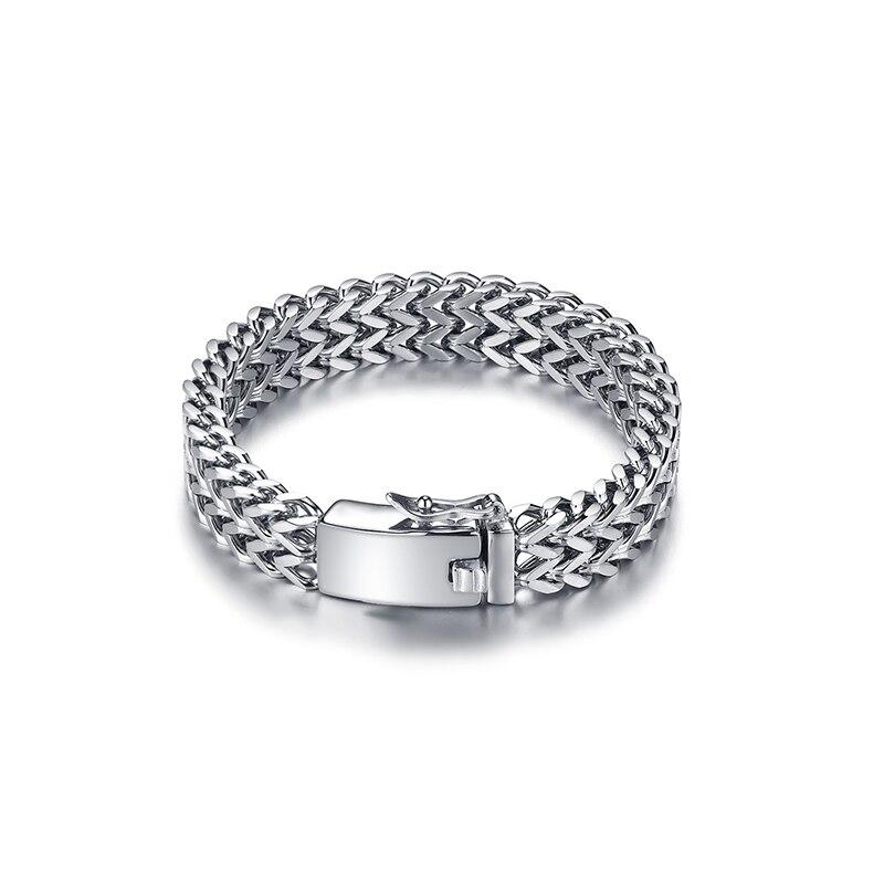 Fashion Stainless Steel Bracelet For Men Custom Bracelets 12mm Width Hand Chain Jewelry Gift 014 fashion rabbit and grass pattern 10cm width wacky tie for men