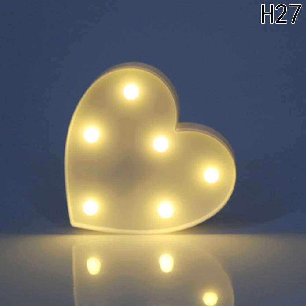 Окно Дисплей свет белые буквы алфавита свет знаковое событие свет Крытый украшения стены Свадебная вечеринка fedding лампа