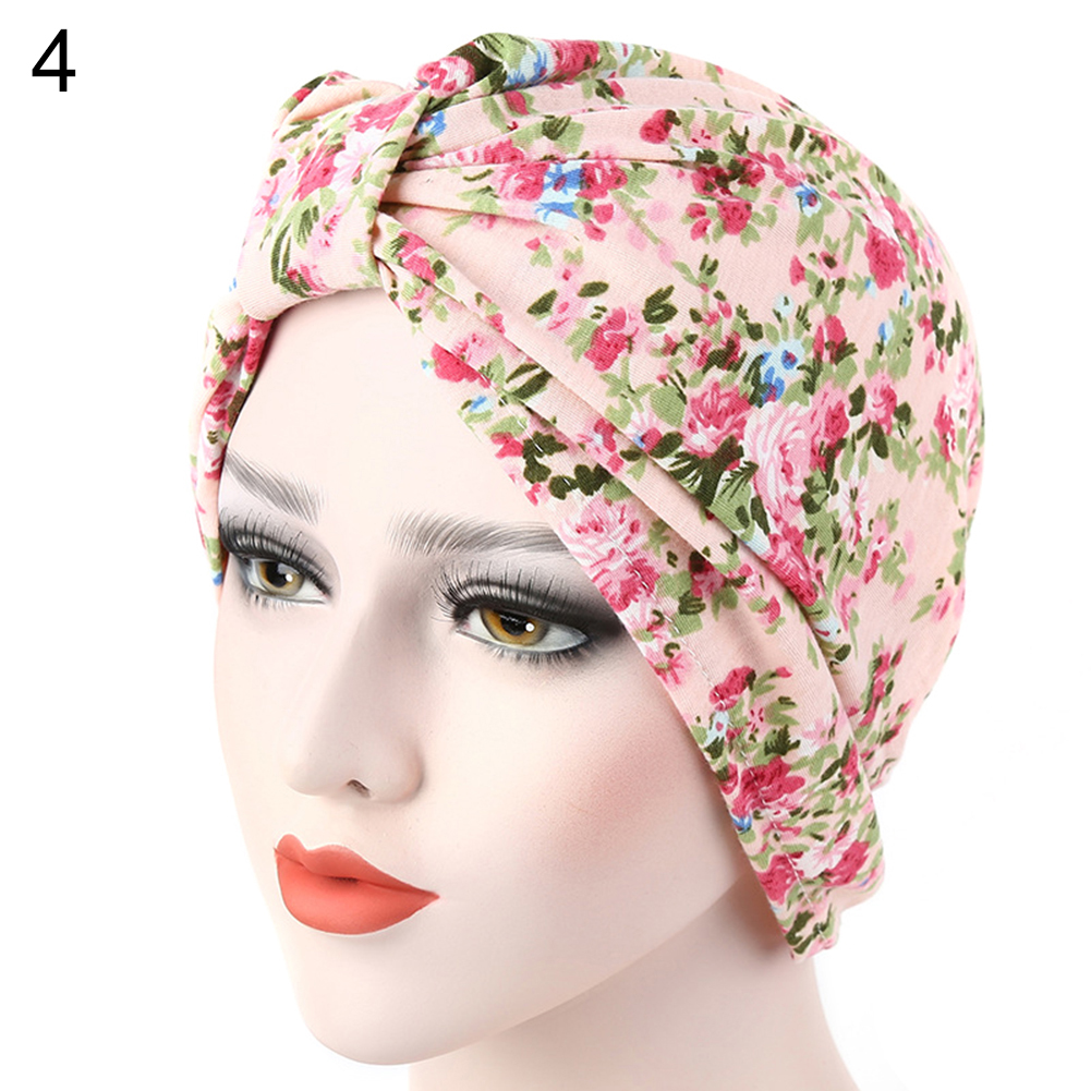 Women Muslim Stretch Turban Hat Cancer Chemo Cap Hair Loss Head Scarf Cover imucci 13 colors solid muslim turban cap women elastic beanies hat bandanas big satin bonnet indian women turban black red