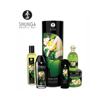 Shunga Edo Garden Collection Green Tea Kit Organic Ingredients Erotic Fragrance Pure Portable RelaxTravel Pack Ideal for Couples