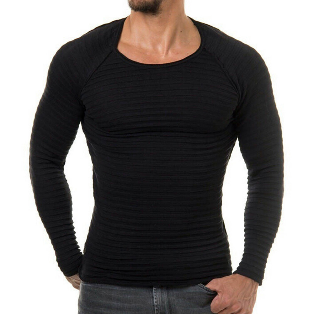 New Autumn Fashion Brand Casual Tops O-Neck Slim Fit Knitting Mens Sweaters And Pullovers Men 2017 Pullover Men M-2XL