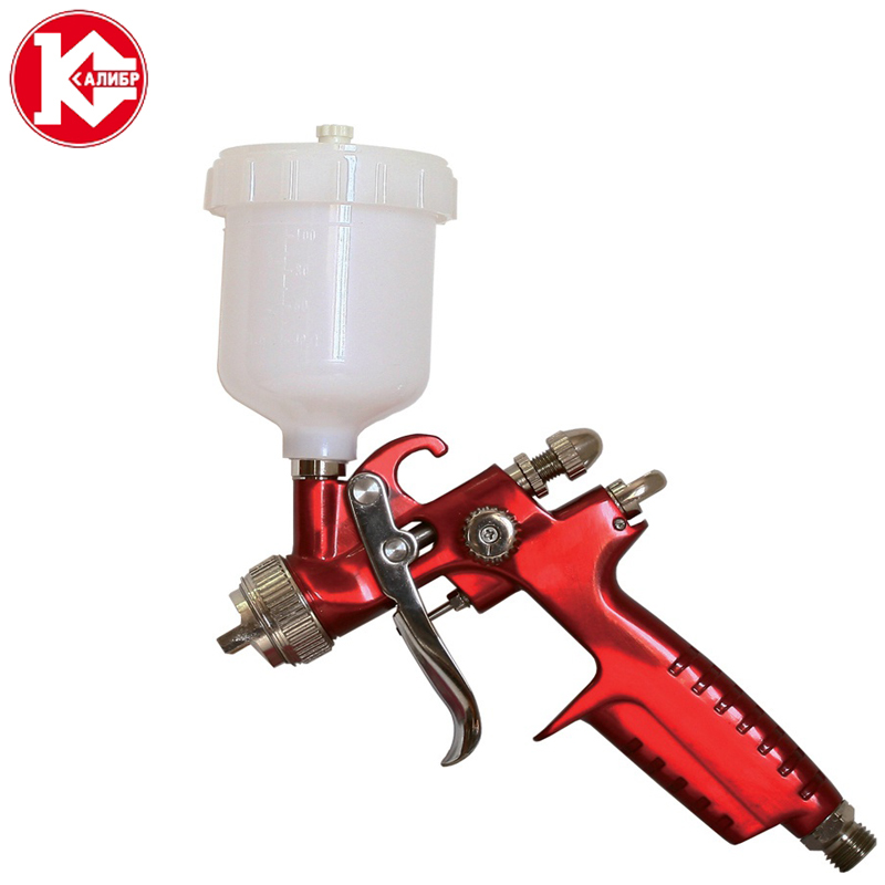 Kalibr KRP-1.0/0.12VB PROFI Spray Gun Pneumatic Airbrush Sprayer Alloy Painting Atomizer Tool With Hopper For Painting Cars permanent makeup tattoo machine gun rotary motor gun alloy shader liner microblading assorted tattoo kit power supply foot pedal