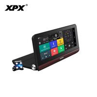 Видеорегистратор XPX ZX878 камера заднего вида Автомобильный видеорегистратор 3 в 1 gps радар DVR Full HD 1080 P Dashcam автомобильный радар детектор камеры
