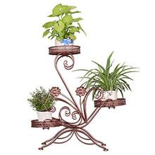 Mensole Per Fiori Shelves Garten Dekoration Scaffali In Metallo A Ripiani Varanda Flower Balcon Balcony Stand Plant Shelf tanie tanio Lista SKILLIST Brak