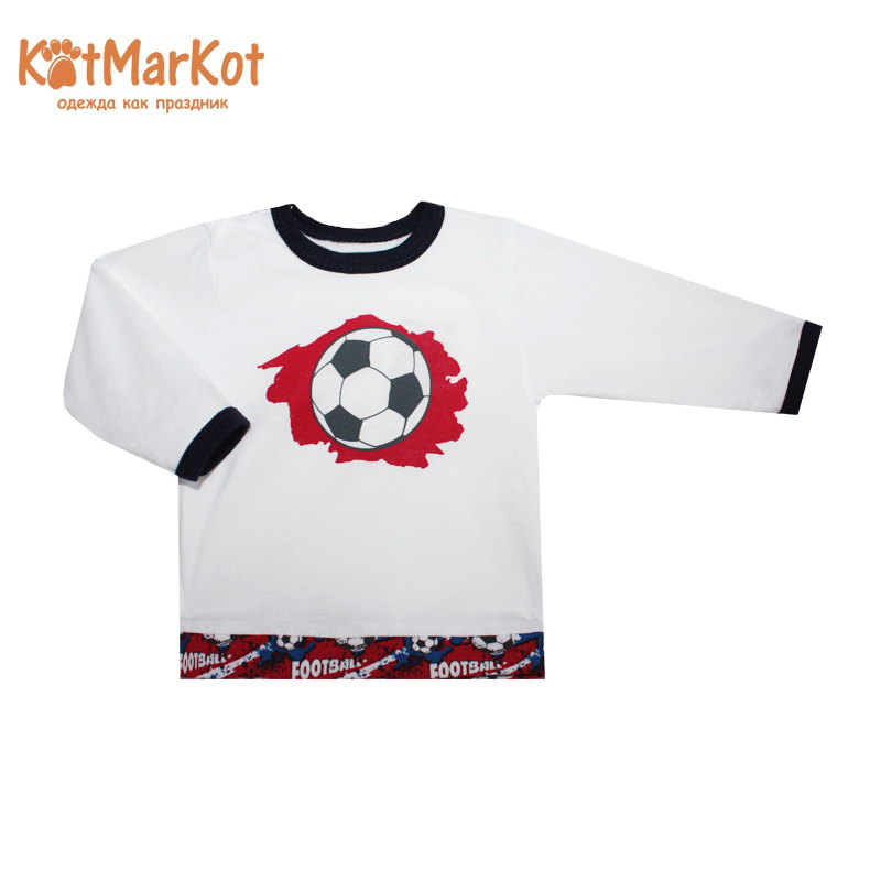 Фото - Blouse Kotmarkot 7859 children clothing cotton for baby boys kid clothes contrast lace keyhole back blouse