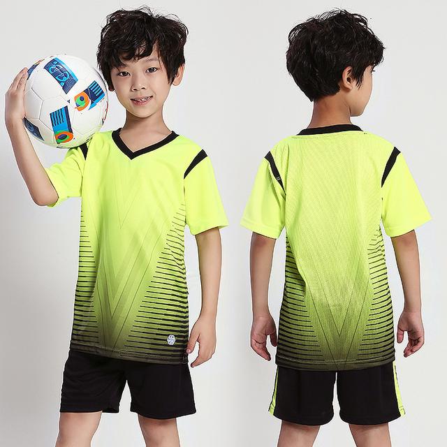 Customize Printing Number Name Logo Youth Kids Football Jerseys Child Sport Kit Suit Soccer Sets Futbol Shorts Shirts Tracksuits