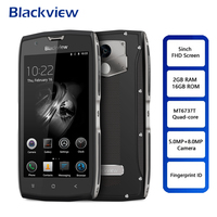 Blackview BV7000 IP68 Smartphone 5 Android 7.0 Waterproof Mobile MT6737T Quad Core 2GB+16GB NFC Fingerprint 3500mAh Cell Phone