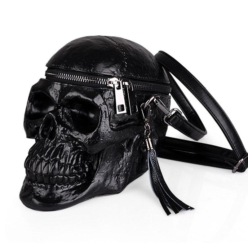 Arsmundi оригинальность сумка женская смешная Скелетная головка черная рюкзак Мужской одиночный пакет мода дизайнер ранец пакет Сумки для черепа сумка женская натуральная кожа - 3
