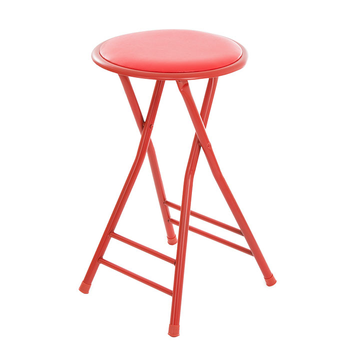 Trademark Home Collection 24 x 14 Cushioned Folding Stool - Red цены онлайн