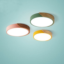 LED Modern Acrylic Metal Frame Round Slim Ceiling Light Restaurant Living Room Bedroom