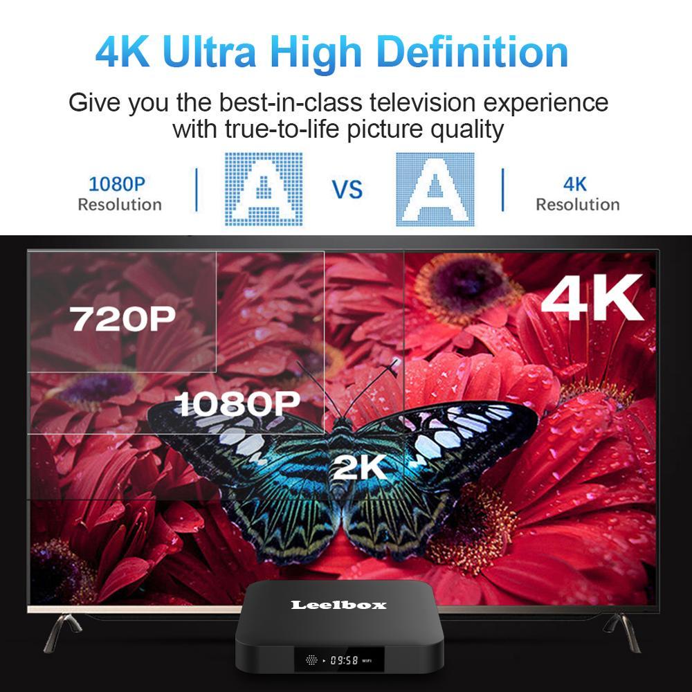 Image 4 - ТВ бокс Android 8,1 Leelbox Smart tv Box с голосовым пультом дистанционного управления, четырехъядерный процессор Amlogic S905W, 2 Гб-in ТВ-приставки и медиаплееры from Бытовая электроника on AliExpress - 11.11_Double 11_Singles' Day