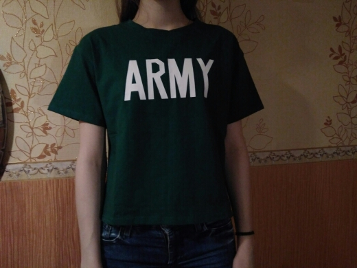 b28d5572a9a Merry Pretty Women Tshirt 2017 Summer Style Army Green T Shirts ...