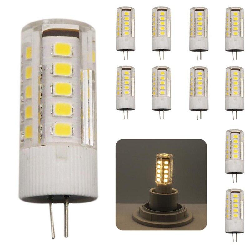 10x Ceramic LED Bulb G4 SMD 2835 LED lamp 3W Light AC220V AC220V light 360 degree Warm White