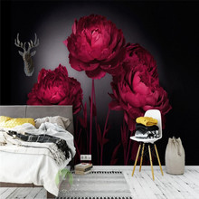 Romantic red roses TV background wall professional productio