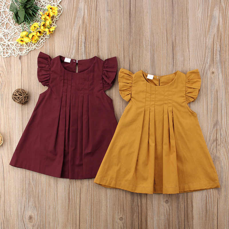 2019  Newborn Baby Girls Summer Dress Casual Princess Party Tutu Dresses Clothes
