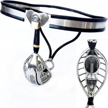 Super Male Adjustable Stainless Steel Chastity Belt Invisible Cock Penis Cage Ventilate Scrotum Groove Adult Bondage Sex Toy