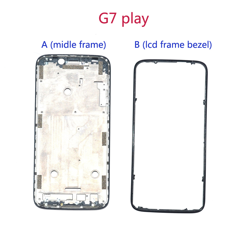 Image 1 - Wholesale Original For Motorola Moto G7 play XT1952 2 LCD metal Plate Frame + Middle Bezel Front Frame full housing parts-in Mobile Phone Housings & Frames from Cellphones & Telecommunications