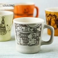 Kawaii Moomins Limited Edition Coffee Mug Retro Ceramic Home office Oolong Tea Cup Milk Tumbler canecas criativa tazas para cafe