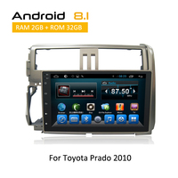2 Din Touch Screen Central Multimedia For Toyota Prado 2010 Car Stereo Auto Radio Android 8.1 6.0 rear view camera AUX GPS Navi