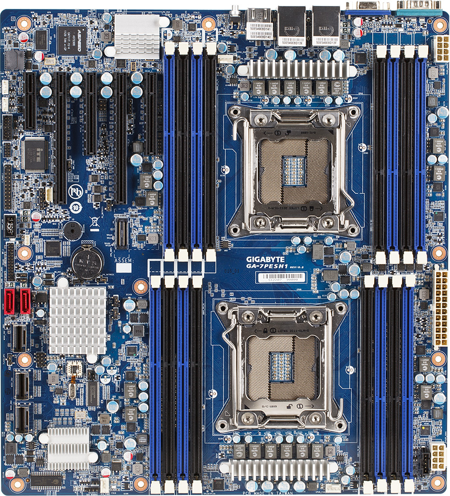 US $573 61 |For Gigabyte GA 7PESH1 7PESH1 C602 Chip LAG2011 Dual Server  Motherboard Support E5 2650 2660 2670-in Motherboards from Computer &  Office
