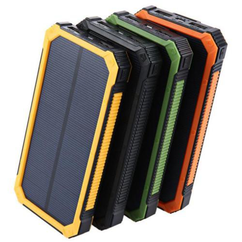 GTF Solar power pack 20000mah hang bracket mobile power supply with strong light flashlight