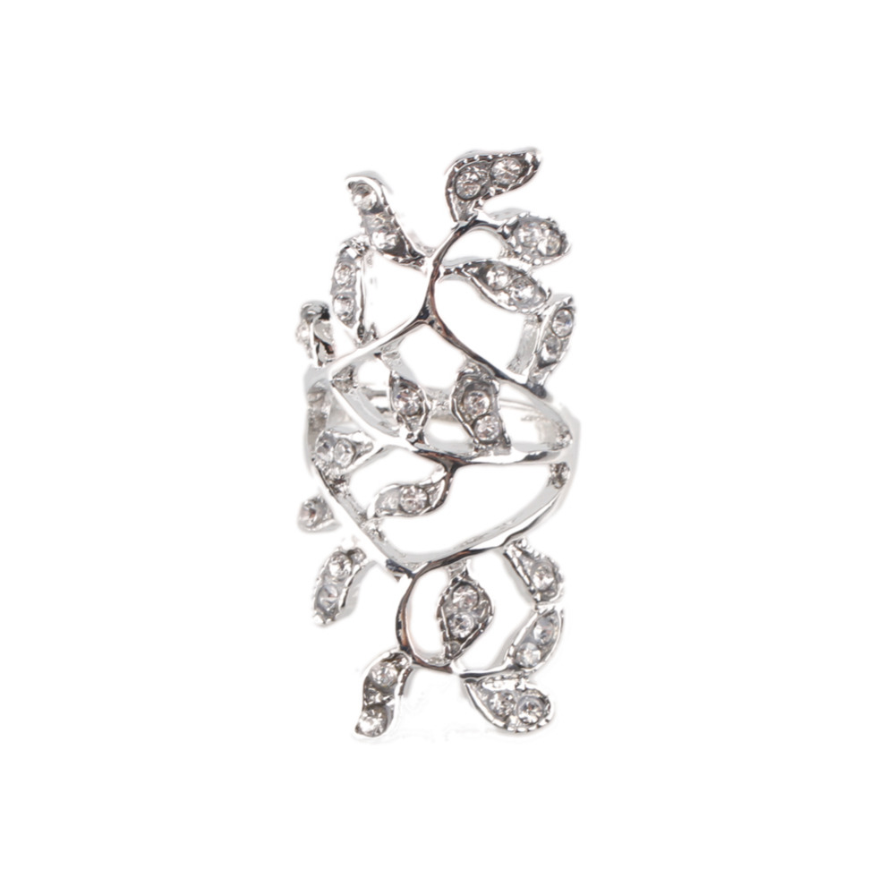 New Design Gold Silver color Fashion Ring Noble Luxury Elegant Charm Zircon Flower Crystal Rings