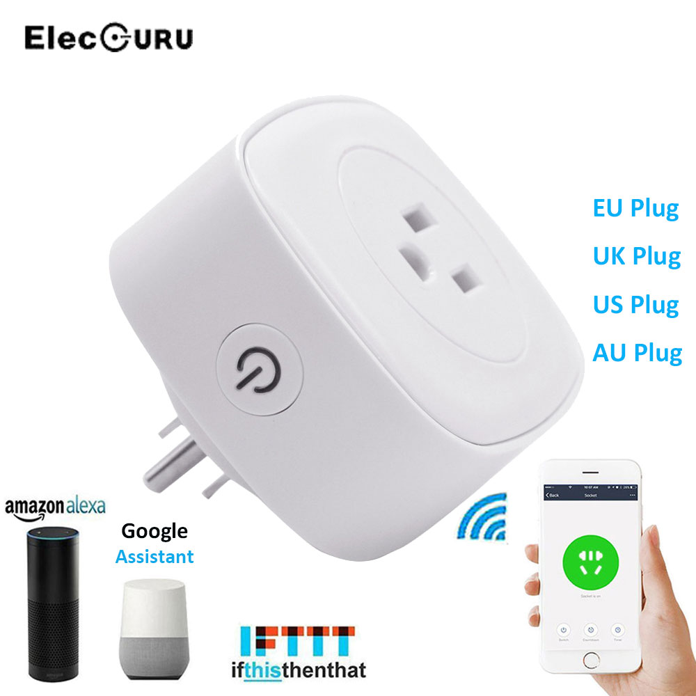 wifi smart plug wireless switch voice control socket eu uk. Black Bedroom Furniture Sets. Home Design Ideas