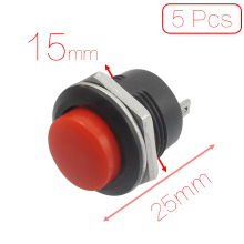 5 x Momentary SPST NO Red Round Cap Push Button Switch AC 6A/125V 3A/250V кулисный переключатель 10 ac 3a 250 6 125v 3 spst