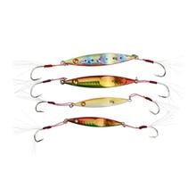 цена на Runature 4pc Metal Jigging Fishing Lure Bait 60mm/20g 80mm/40g Artificial Hard Metal Jig Lure Fishing Spoon Lure Bait Sinking