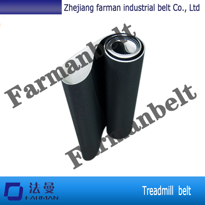Farman 2.3mm thickness black diamond pattern pvc treadmill belt/walking belt top quality farman pvc treadmill belt with customized size