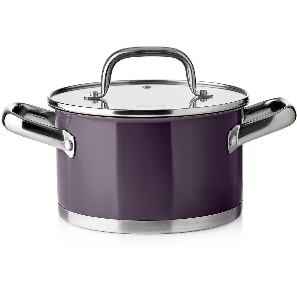 Pot with lid Esprado Uva Norte 2,3 liter кастрюля esprado uva norte с крышкой цвет фиолетовый 2 3 л