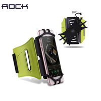 ROCK 180 Rotation Sport Running Phone Armband Waterproof Arm Bags for Samsung For iPhone 7 4~6 Inch Belt Key Holder Pouch Case